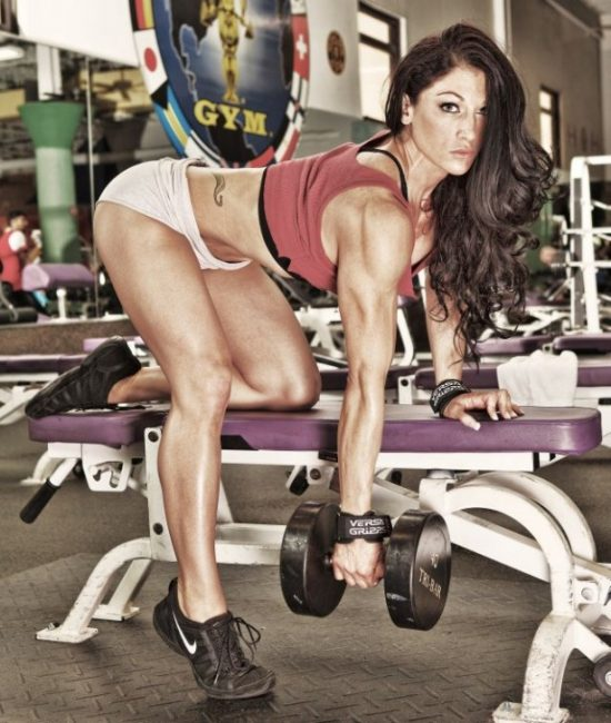 Candice Keene working out, ripped,