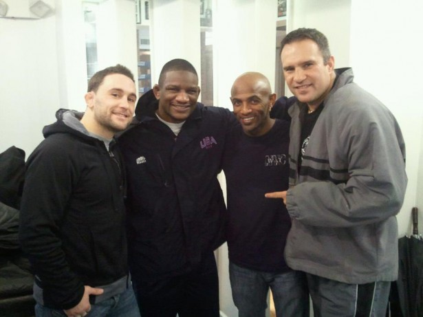 Ramico Blackmon wih the Frankie Edgar Team