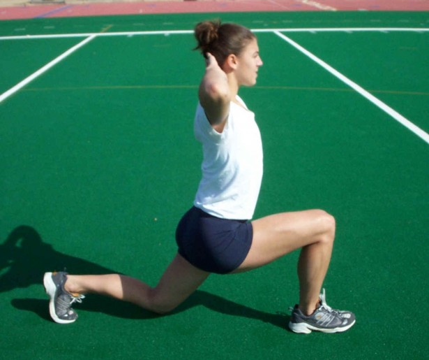 walking lunge athletic build