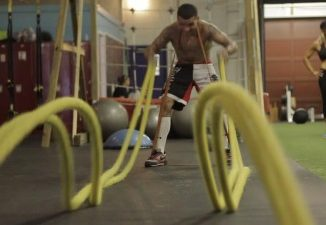 Battle rope training