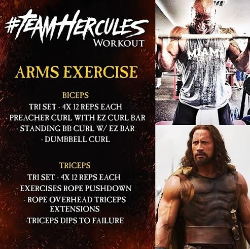 Arm Workout - The Rock