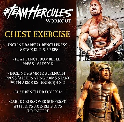 Chest Workout of The Rock