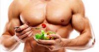 Fitness model eating