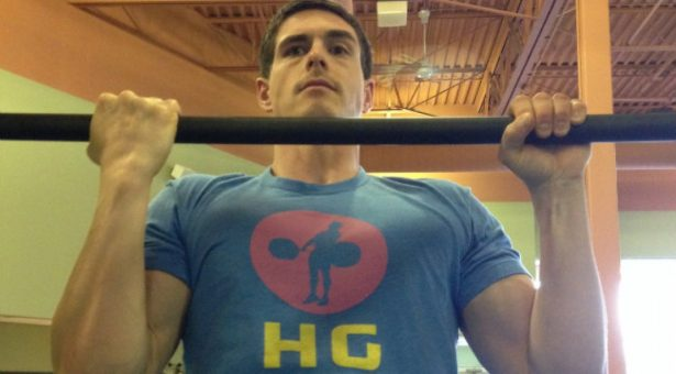 Mixed grip chest to bar