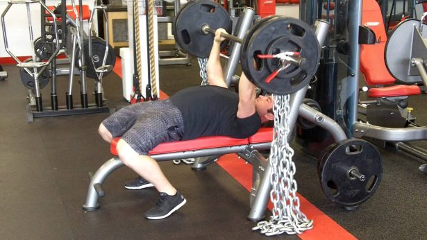 hanging chains bench press