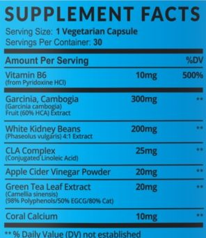 Havasu Premium Fat Burner Ingredients