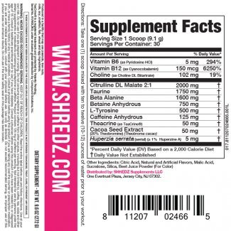 Shredz Ingredients