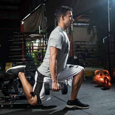 split squat for football training