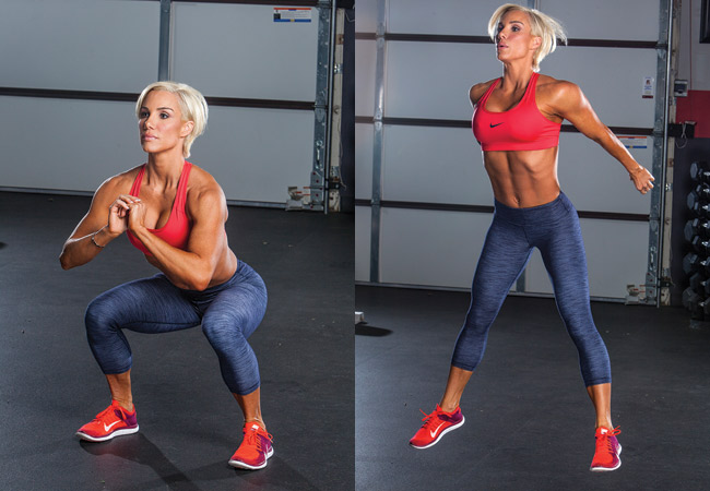 Jump squat body weight workout
