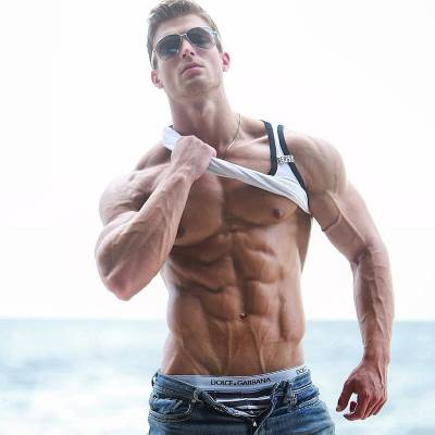 Ripped and jacked guy