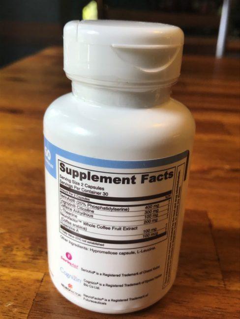 Mindseries Nootropic ingredients