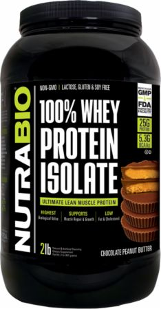 100% Whey Protein Isolate by Nutribio