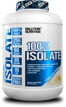 100% Whey Protein Isolate by Evlution Nutrition