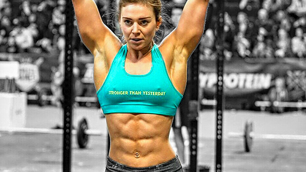 girl with muscle