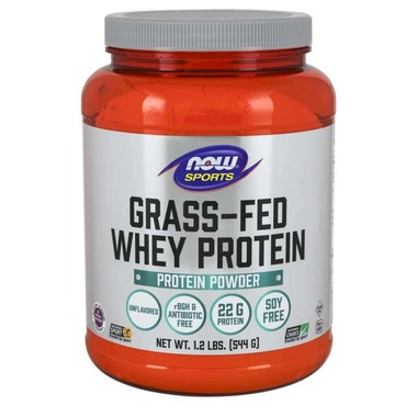 Unflavored Grass-Fed Whey by NOW Sports