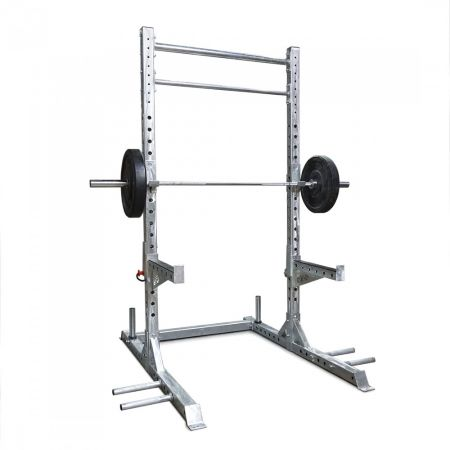 Galvanized Titan Guillotine Squat Rack and Pull-Up Bar Combo