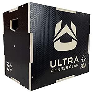 Ultra Fitness Gear Anti-Slip Wood 3-in-1 Plyo Box
